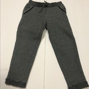 EUC Gap Grey Sparkle French Terry Joggers Size 4T